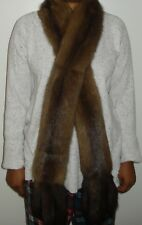 Russian Sable Silver Tip Fur Scarf Wrap Stole Both Side Fur EXCELL CON Free Ship