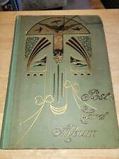 Vintage Art Nouveau antique paper unused post card album Art Deco cover