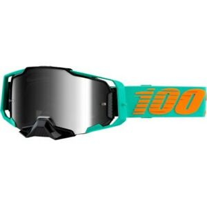 100 Percent Armega goggle Clark SIlver Flash Mirror lens  MX Moto 50710-359-02