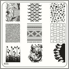 MoYou Square Image Plate 405 Trendy Style, Paws, Moustache, Stamping Template