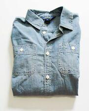 Ralph Lauren Girls Chambray Long Sleeve Shirt Indigo Sz 7 - NWT