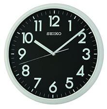 Seiko Qxa694n Black/grey Analogue Round Lumibrite Wall Clock