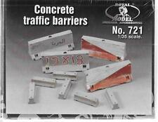 Royal Model, Concrete Traffic Barriers (4 large, 6 small) (Resin) 1/35 721 ST