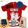 Karneval Kostüm f. Panzerknacker Fan T Shirt Fasching Verbrecher JGA Party