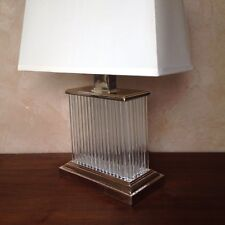 Restoration Hardware Rectangular Crystal Facet Table Lamp W/ Shade (Mfc  $629)