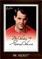 2006-07 Upper Deck Beehive 5X7 Dark Wood MR. Hockey Gordie Howe #204