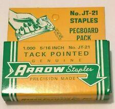 "New listing Arrow Fastener 5/16"" Jt-21 Steel Staples 1000 Staples Nos Usa"