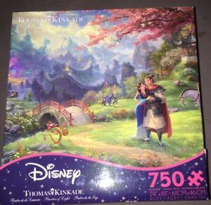 Thomas Kinkade Disney's Mulan Jigsaw Puzzle; 750 Piece Puzzle, New