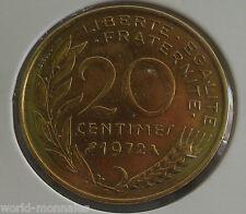 20 centimes marianne 1972 : TTB : pièce de monnaie française