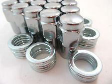 "20 Pc Set Chrome Steel Mag Shank Lug Nuts 7/16"" x 20 Right Hand Thread Chevy GM"