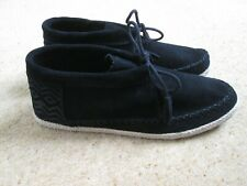 BNWOB Black Soft Suede Moccasin Style Boots/Shoes From Toms Size UK - 10