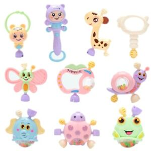 6-10 Pcs Toys for Baby Infant Newborn Rattle Toy Set 0-12 Months Teether Shaking