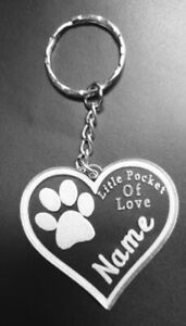 Personalised Gift  Acrylic Keyrings Engraved In Loving Memory for your Pet