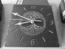 Slate Celtic Tree Of Life Wall Clock - The Highland Slate Workshop
