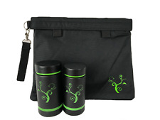 Smell Proof Bag 11 x 9 Carbon Lined, & 2 Smellproof Bottles , Water Tight - NEW