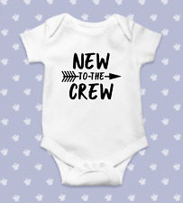 New to the Crew Baby Bodysuit   Baby Shower Gift   Cute Baby Clothes   Funny Bab