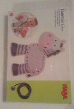 Zebra Threading Animal Ages 3+-Plywood & Polyester-Dimensions=18 X 16.5cm