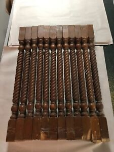 "12 Antique Balusters, Spindles ~Turned Wood Architectural Balusters, 26"" L"