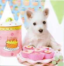 """Baby Cakes"" West Highland White Terrier ""Westie"" Puppy birthday/greeting card"