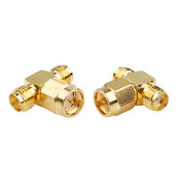 SMA Female to Female to Male Connector Adapter for Cell Phone Booster 5pcs Test