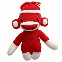 Sock Monkey with Hat Heart Logo Plush Stuffed Animals Red Kids Toys Love  Gift a76bf878ae7