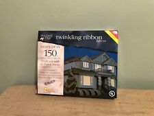 """150 Multi bulbsTwinkling Ribbon Holiday Time Christmas Lights Appx 7.5' X 8.00"""""""