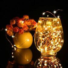 Solar Wine Bottle Cork Light 10 LED Christmas Fairy String Light