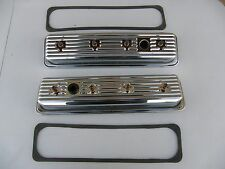 1987-97 Small Block Chevy 5.0/5.7 Short Style CHROME VALVE COVERS & CENTER BOLTs