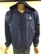 Adidas Mens AAL001 Navy Blue Purple Vented Full Zip Hoodie Soccer Jacket Size L