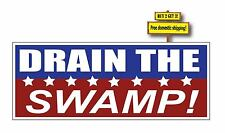 DRAIN THE SWAMP Donald Trump President USA 2016 Decal/Sticker Clean up DC