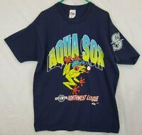 VTG 90s Everett AquaSox Tree Frog Minor League Baseball Shirt Sz XL Mariners