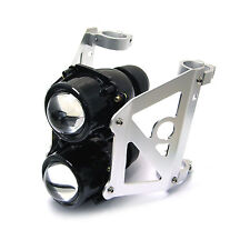 Dual Stacked Streetfighter Projector Motorcycle Headlight Set Emarked 50/51mm