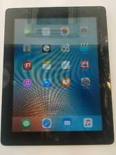 Apple iPad 2  16gb WiFi Unlocked, in black/silver  screen cracked touch all ok