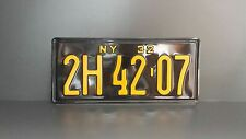 New York 1932 License Number Plate Custom Embossed/Pressed plaque bouclier