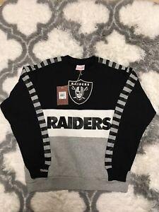 Oakland Raiders Mitchell & Ness NFL Leading Scorer Fleece Crew Sweatshirt Sz M