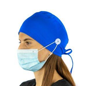 Royal Surgical Cap Women with Buttons I Nurse Cap I Scrub Cap