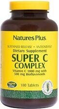 Nature's Plus Super C Complex Vitamin C 1000 mg w/ 500 mg Bioflavonoids 180 Tabs