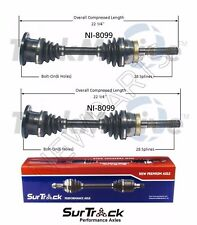 2 Front CV Axle Shafts SurTrack Set for Nissan Xterra Frontier 4WD 1998-2004