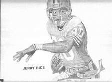 JERRY RICE FRANK NAREAU 1994 DRAWING NUMBERED 53 OF 500