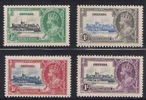 Grenada   1935   Sc # 124-27   Silver Jubilee   MNH   (4020)