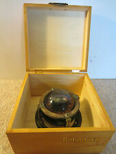Vintage Maritime Solid Brass Boat Wet Compass