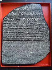 Fac-similé de la pierre de Rosette Rosetta Stone Inscriptio Rosettana hiéroglyphes