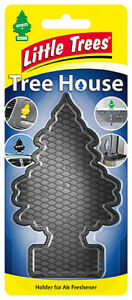 Little Tree Magic Tree TREE HOUSE Air Freshener Holder Re-useable BLACK