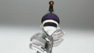 new 1.15 inch Handmade Glass Spinning Top with stand | Lampwork by Dusty Gamble