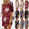 Women Ladies Floral Long Tops Blouse Summer Beach Tunic Boho Dress Plus Size6-22