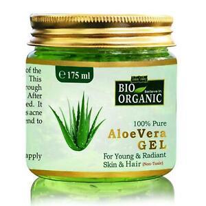 Indus Valley 100% Organic NonToxic Aloe Vera Gel 175ml For Glowing Skin