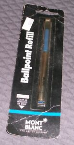 Montblanc Ballpoint Refill-- Fine Point-- Blue Color--  Made in Germany NIB