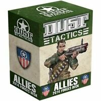 Dust Tactics Allies 2014 Forces Deck - Brand New - 100 Color Cards - Fast Ship