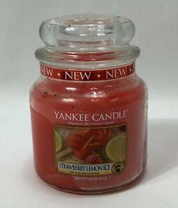 Yankee Candle Medium Strawberry Lemon Ice Jar Candle 14.5 oz