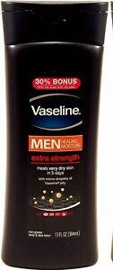 vaseline men healing moisture extra strength lotion heals very dry skin 13 fl oz